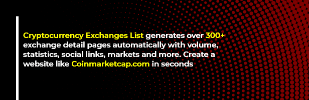 ExchangePress - Cryptocurrency Exchanges List - WordPress Plugin - 1